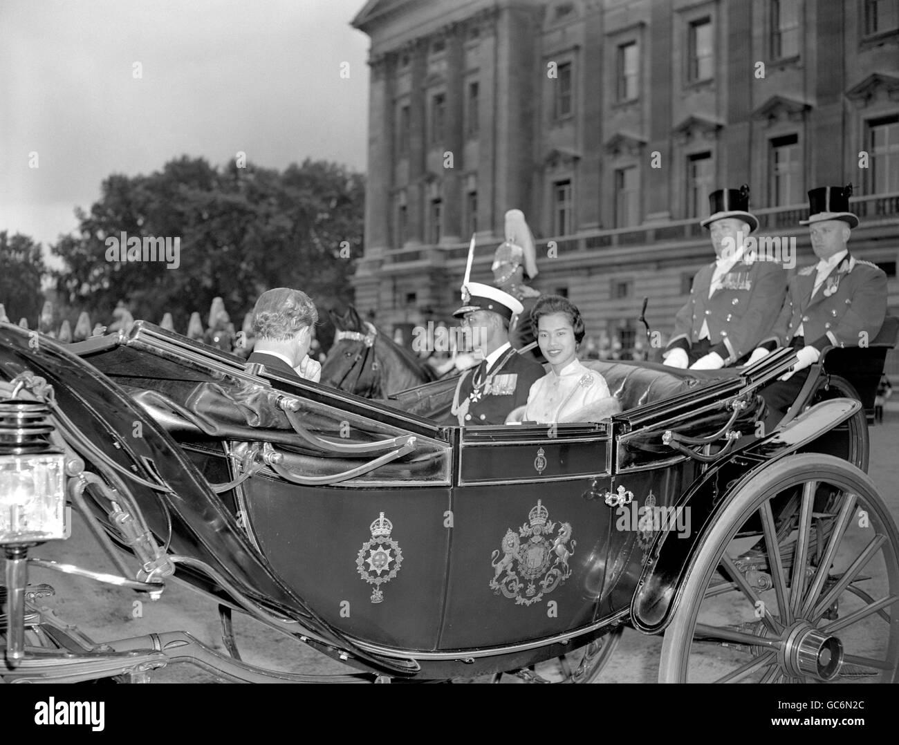 Royalty - King Bhumibol Adulyadej of Thailand State Visit - London - Stock Image