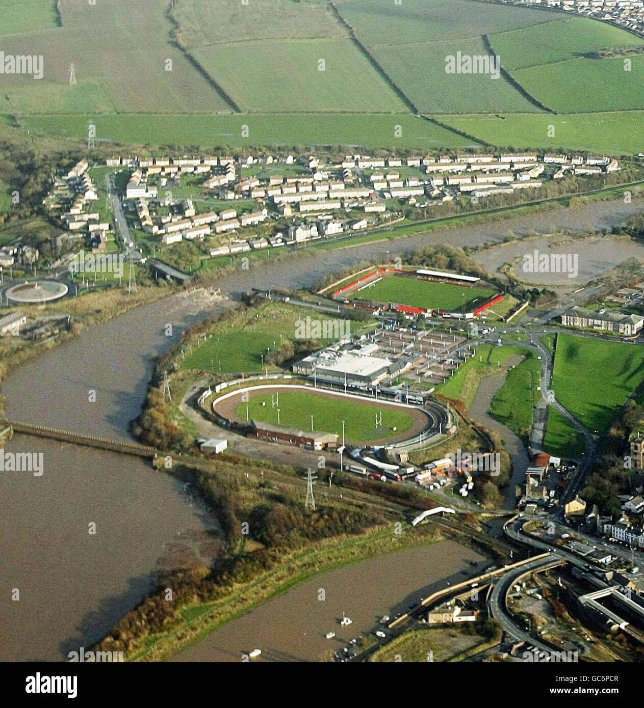 Flooding in UK Stock Photo