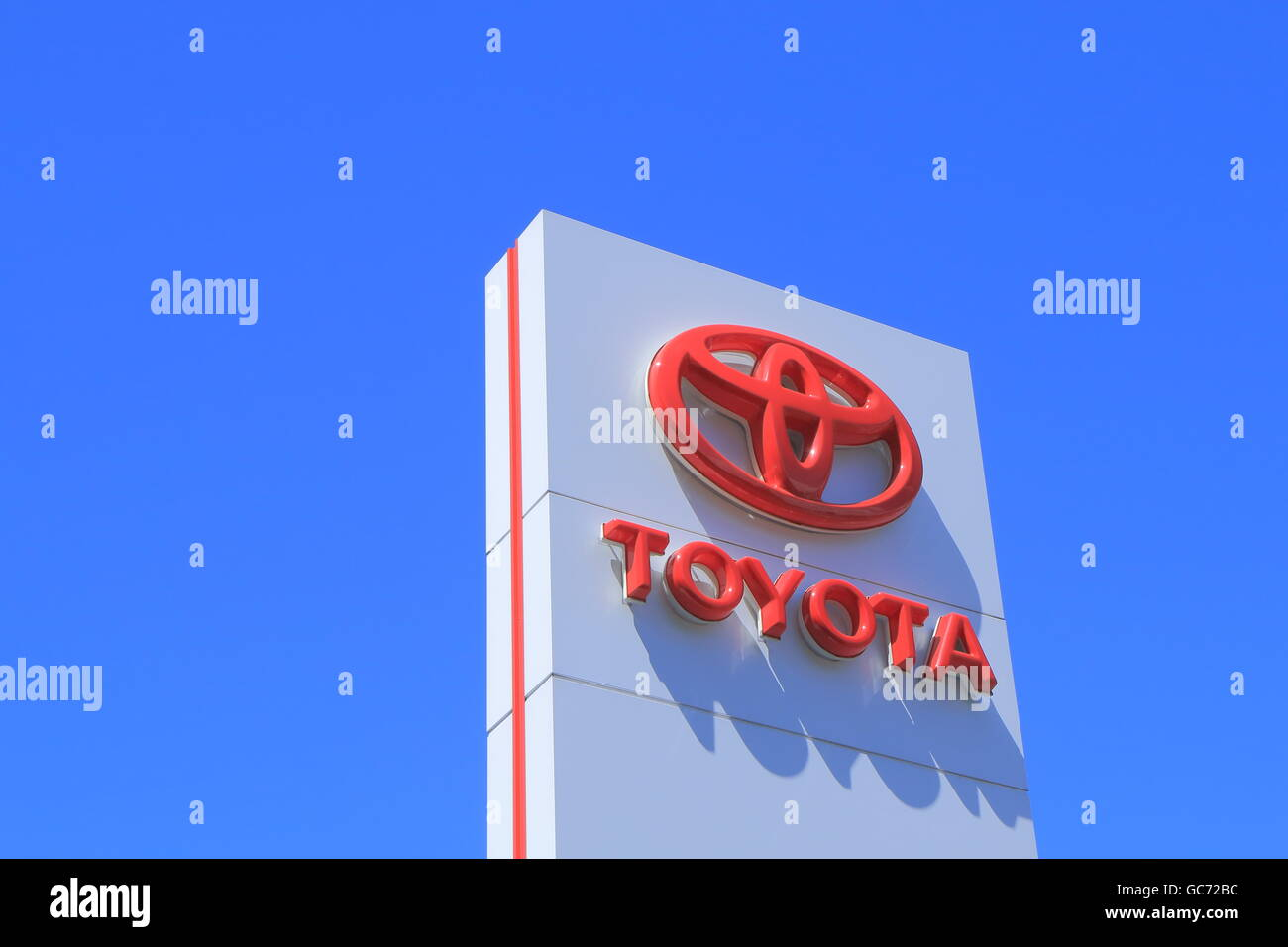Toyota Japanese car manufacture company logo Stock Photo
