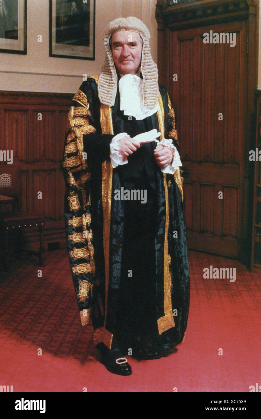 LORD CHANCELLOR, LORD MACKAY - Stock Image