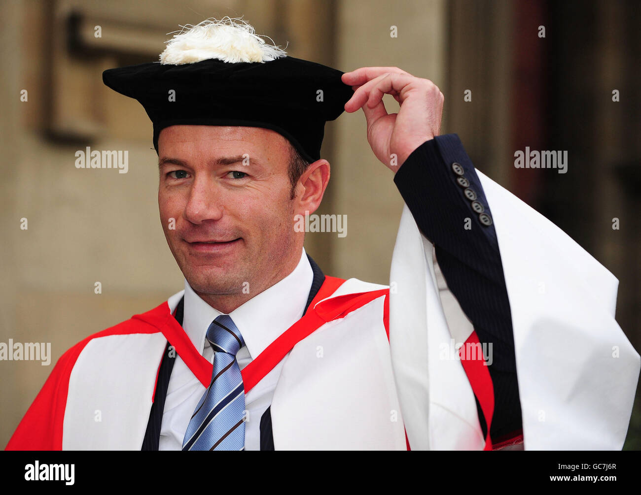 Alan Shearer collects honorary degree - Stock Image
