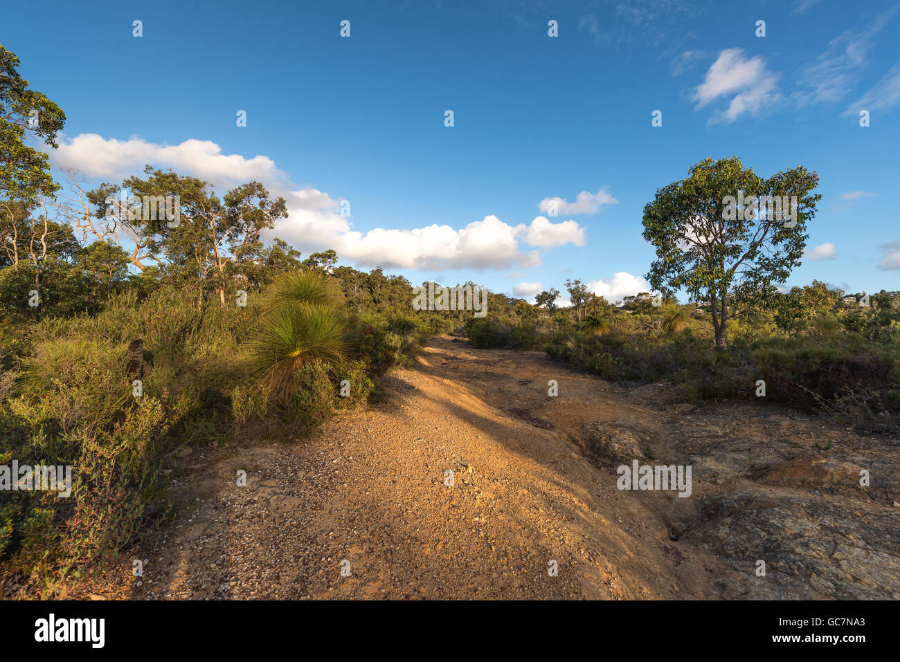 At  Kalamunda Zigzag Road  was part of the Upper Darling Range Railways line in Western Australia, opening  in July - Stock Image