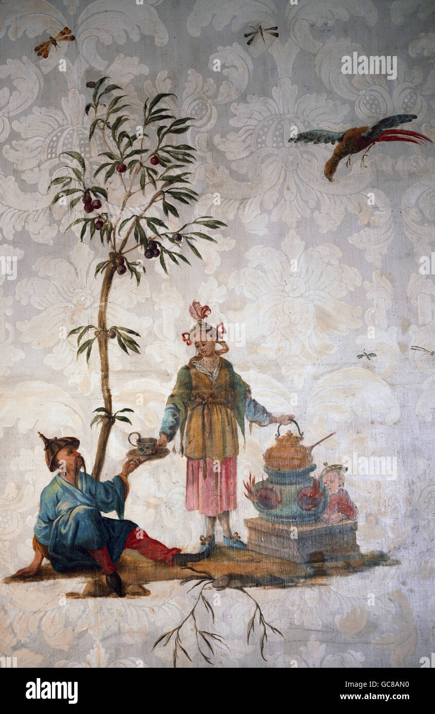 Fine Arts Wallpaper Chinoiserie Tea Ceremony Painting In The