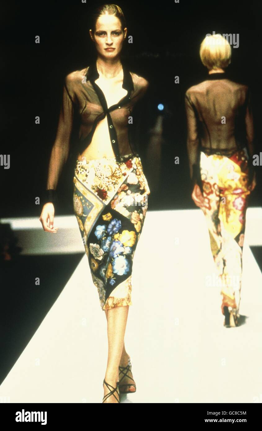 fashion, fashion show, Salvatore Ferragamo, Florence, 1998, Additional-Rights-Clearences-NA - Stock Image