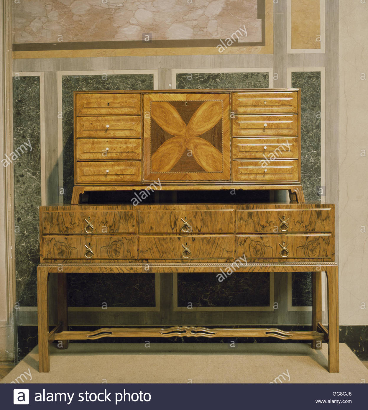 Charmant Furnishing, Furniture, Art Nouveau, Commode By Bernhard Pankok (1872    1943), Walnut, Birch Wood, Circa 1905, Austrian Museum Of Applied Art,  Vienna, ...