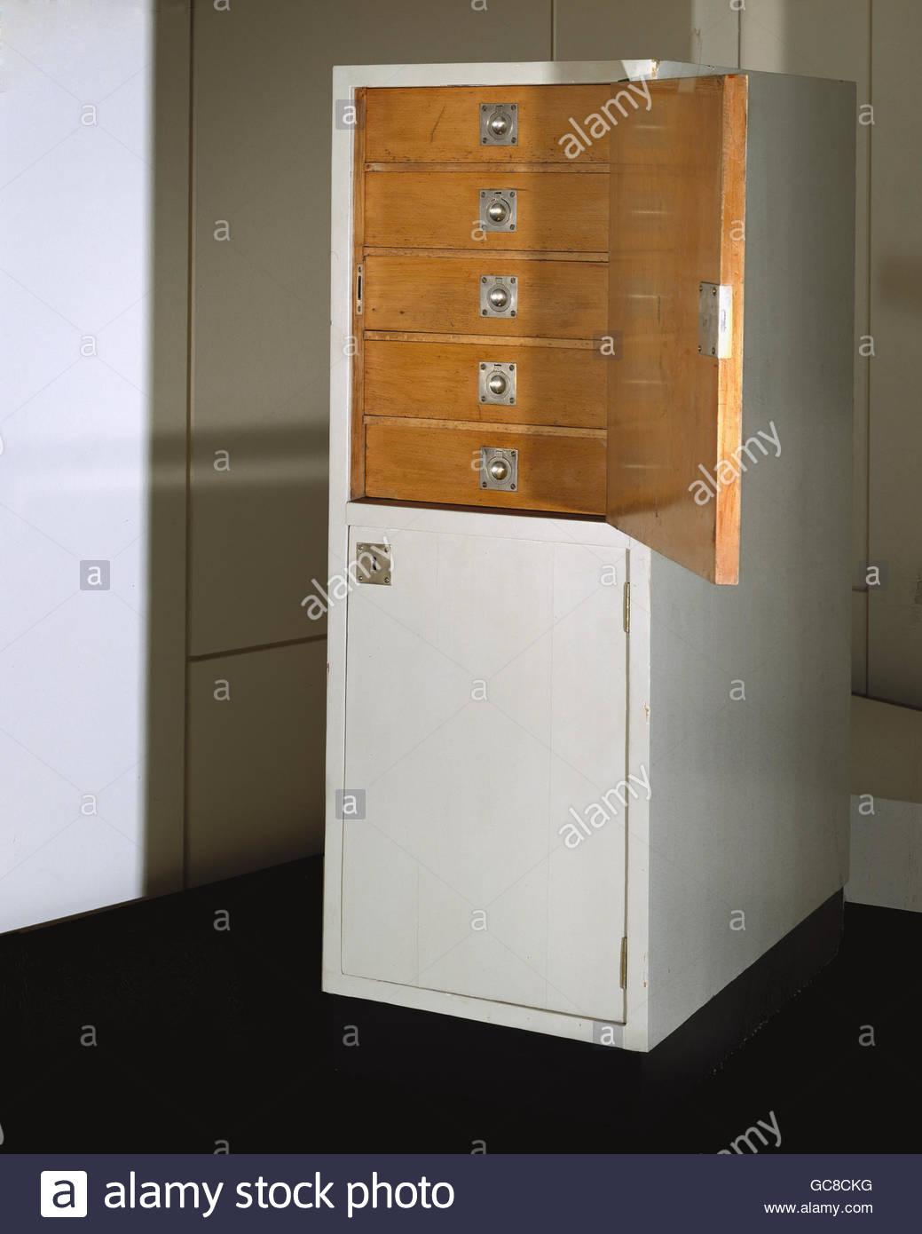 Furnishing, Furniture, Cabinet, By Josef Hoffmann (1870   1956), Beech