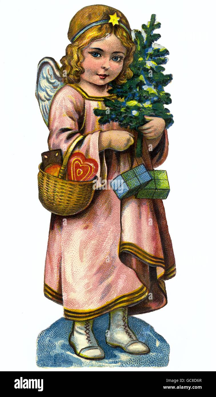 Christmas, the infant Jesus, scrap-picture, Germany, circa 1912, Additional-Rights-Clearences-NA - Stock Image
