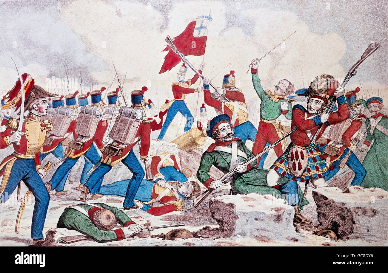 events, Crimean War, 1853 - 1856, Siege of Sevastopol 9.10.1854 - 8.9.1855, assault on the Great Redan, 8.9.1855, - Stock Image