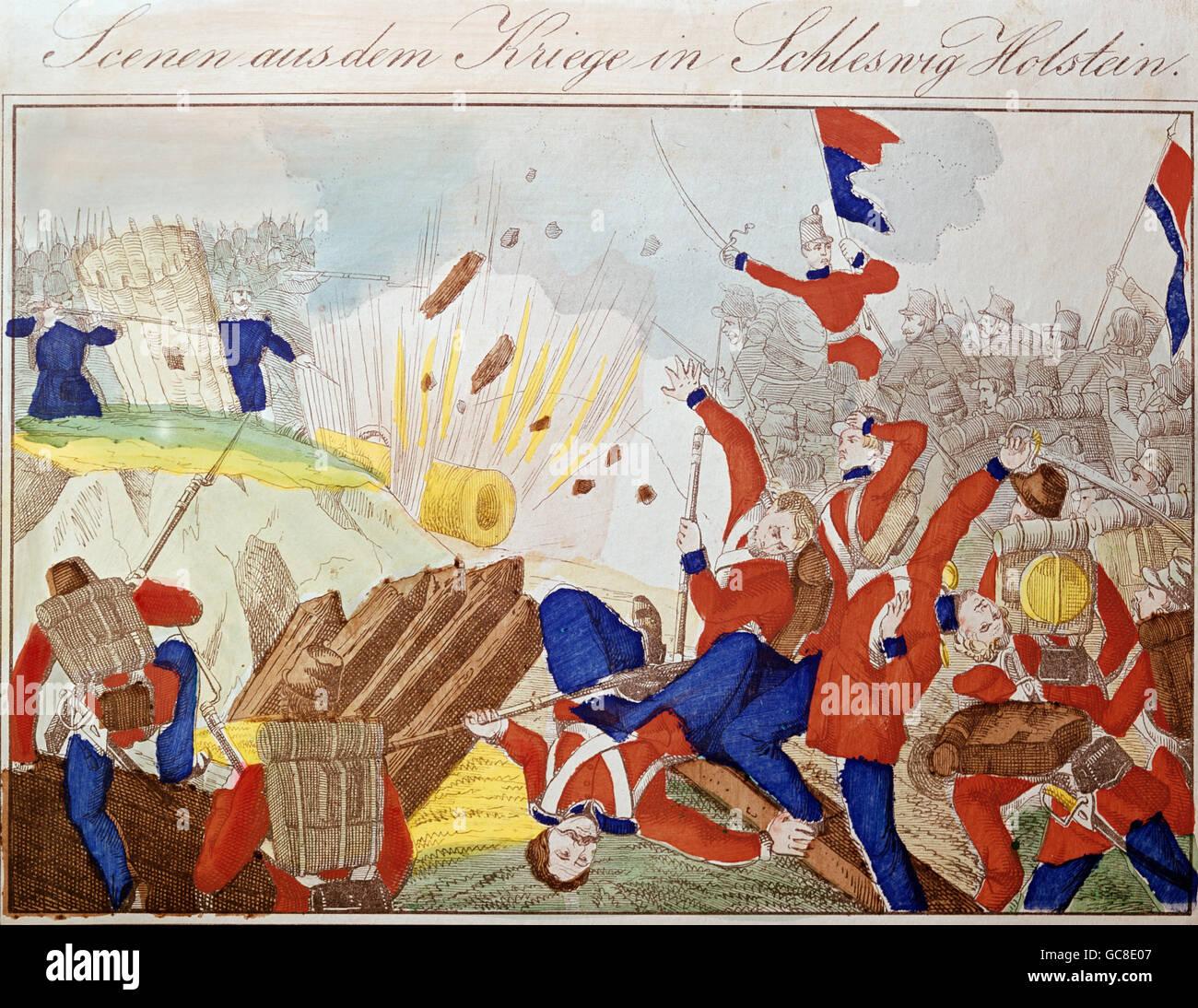 Events First Schleswig War 1848 1850 Skirmish Between
