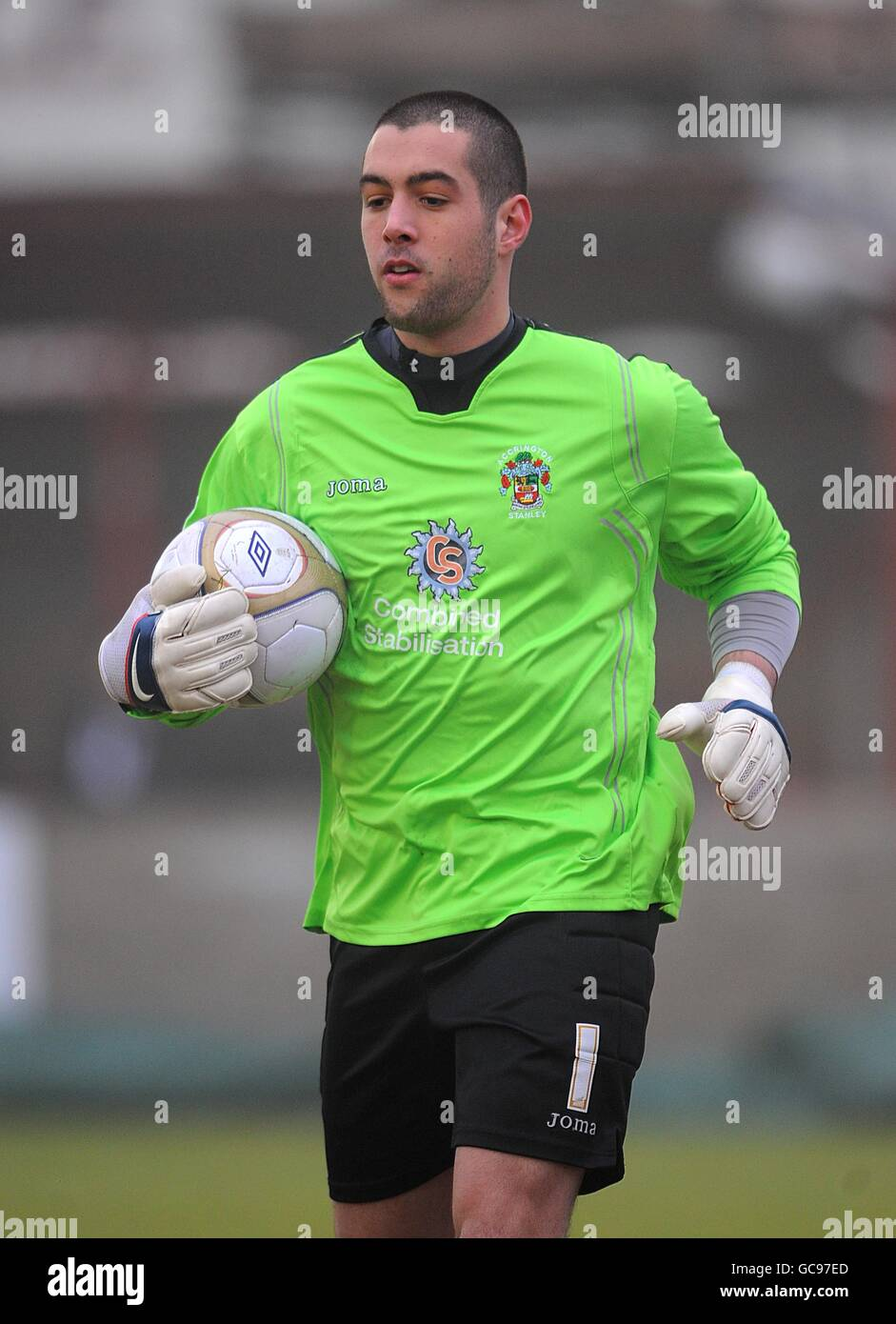 Soccer - FA Cup - Fourth Round - Accrington Stanley v Fulham - Crown Ground - Stock Image