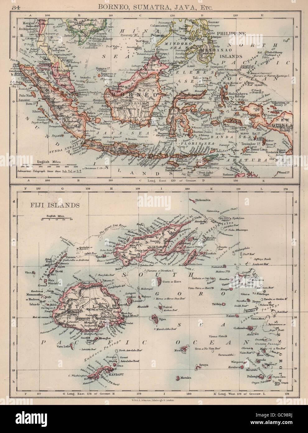 INDONESIA & FIJI  Sunda Islands Borneo Java Sumatra  Viti/Vanua Levu