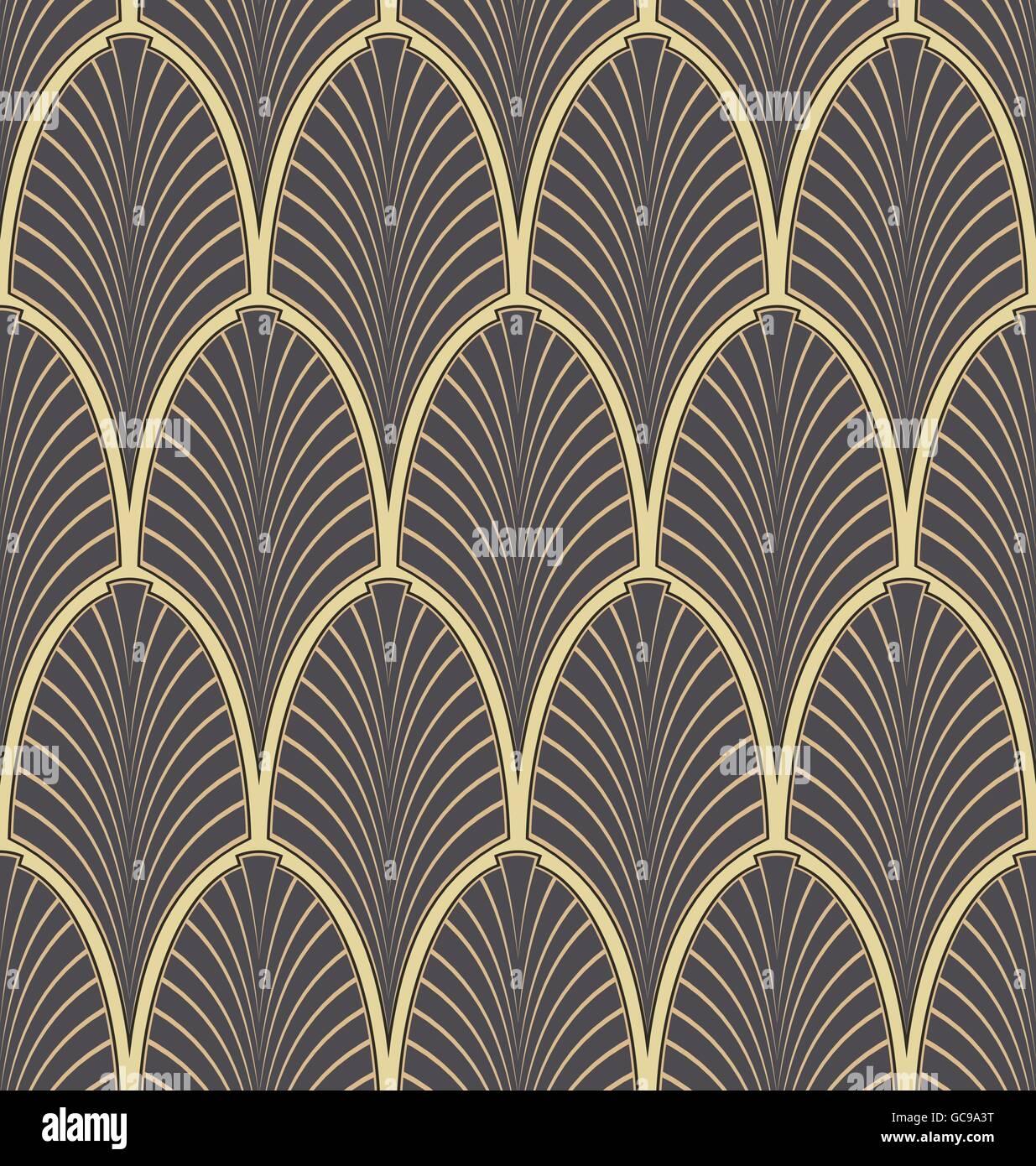 seamless art nouveau pattern stock vector art illustration vector