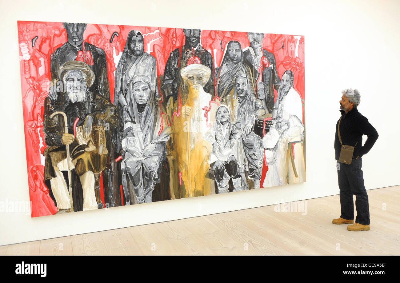 Empire Strikes Back: Indian Art Today exhibition - London - Stock Image