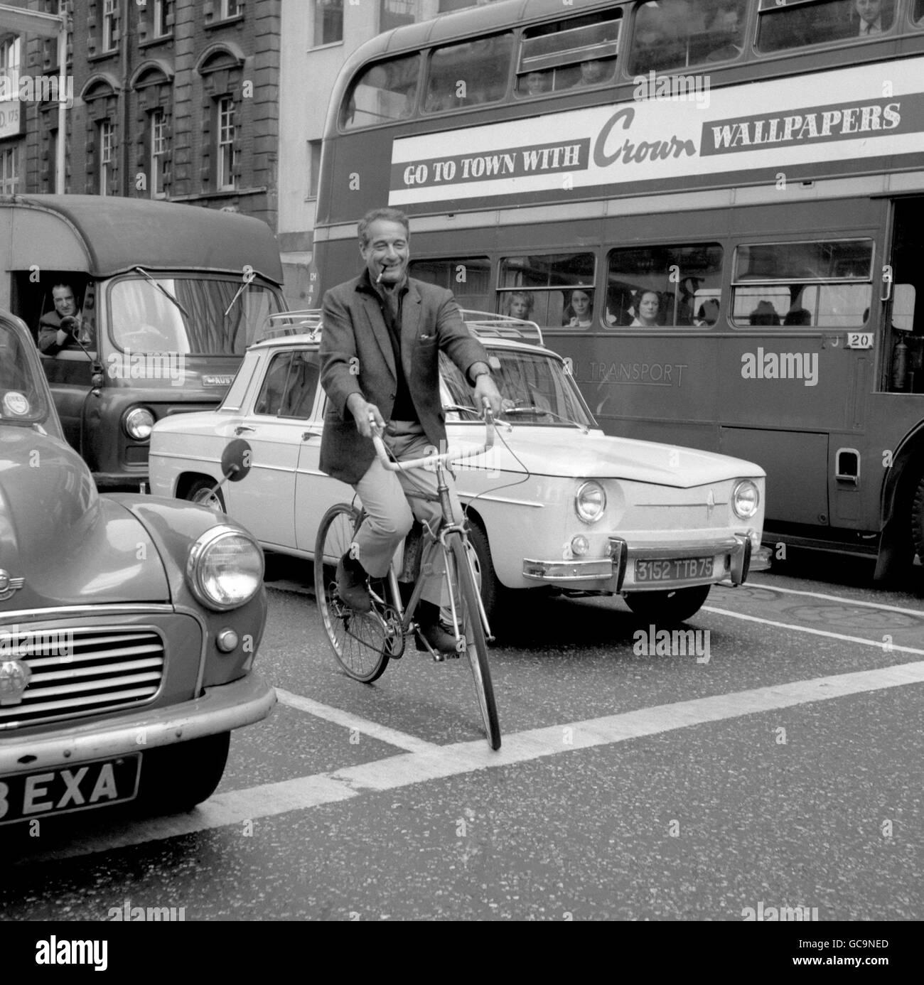 Me & My Bike - London - 1964 - Stock Image