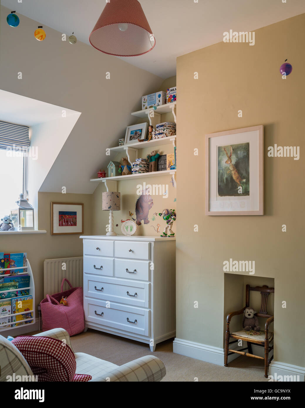Farrow And Ball Mizzle.Childs Bedroom With Walls Painted In Mizzle By Farrow Ball