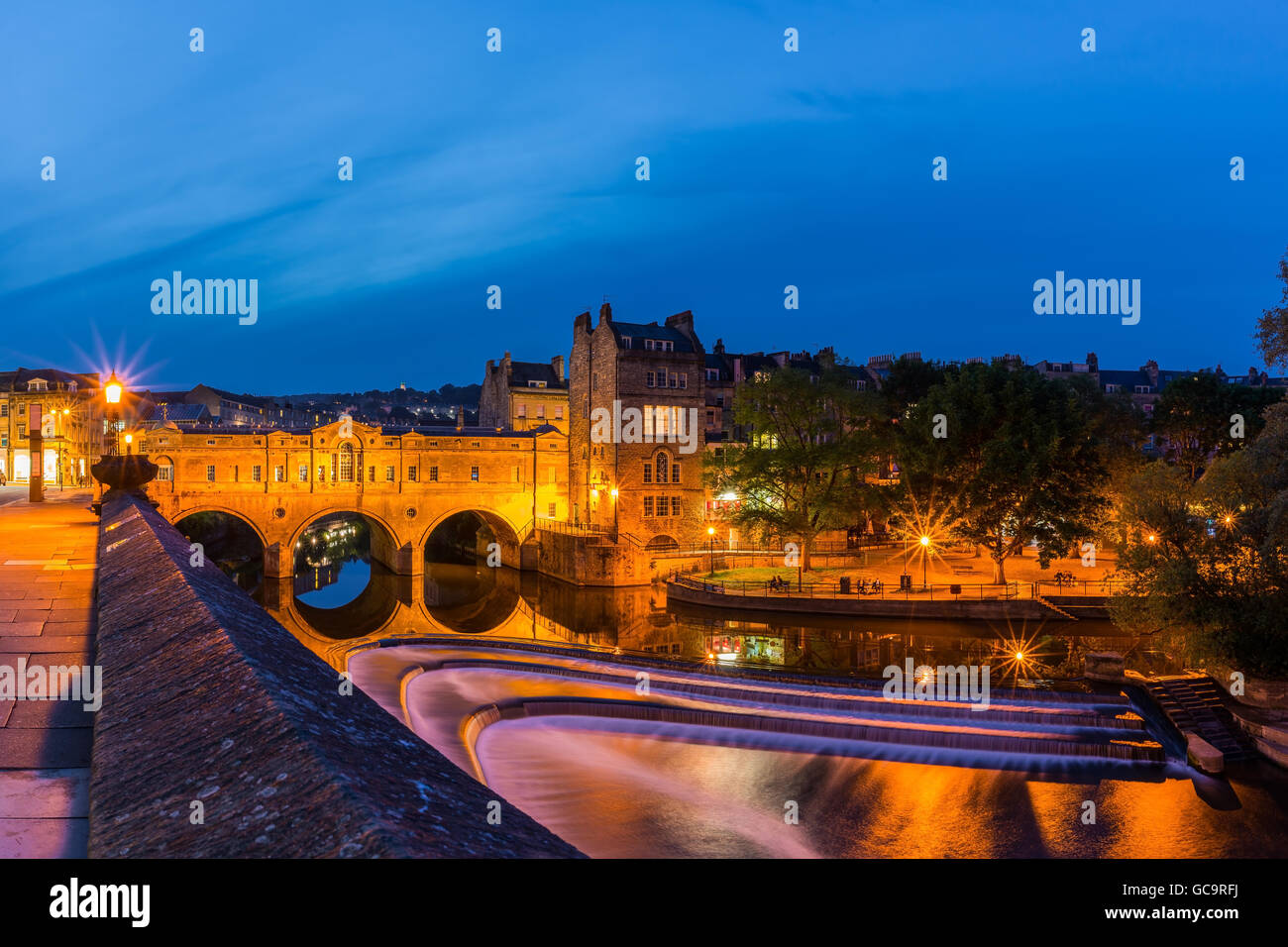 Bath and River Avon - Stock Image