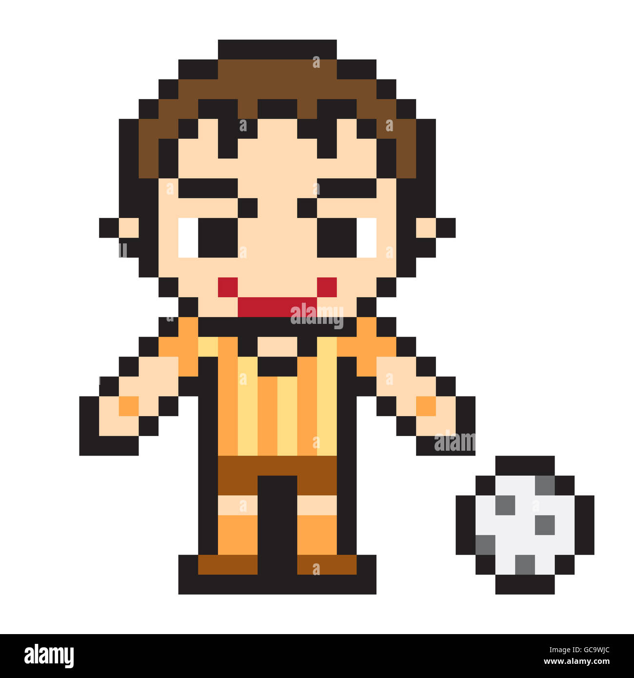 Illustration Design Pixel Art Soccer Stock Photo 110855764