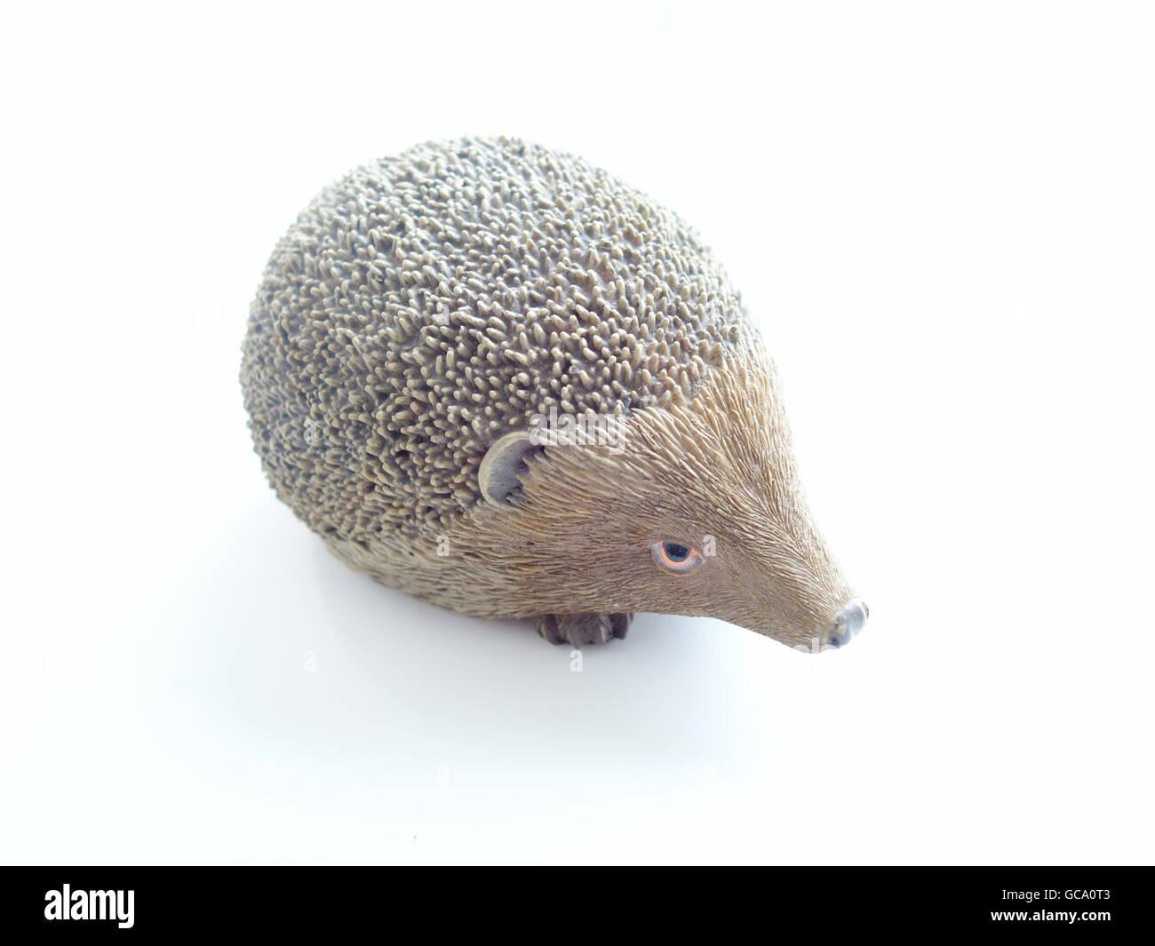A pottery ceramic hedgehog - Stock Image