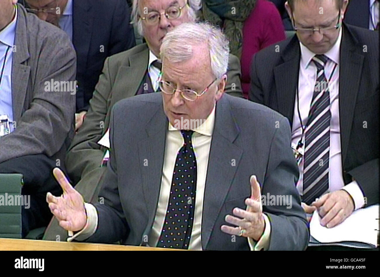 Treasury Committee inquiry into financial institutions - Stock Image