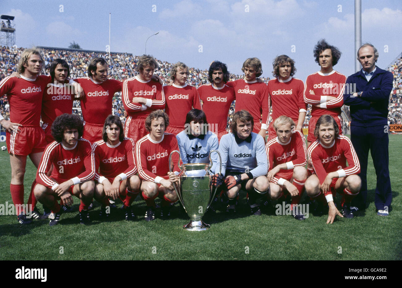 sports, soccer / football, European Champion Club's Cup, FC Bayern Muenchen, group picture, 1974, Additional - Stock Image