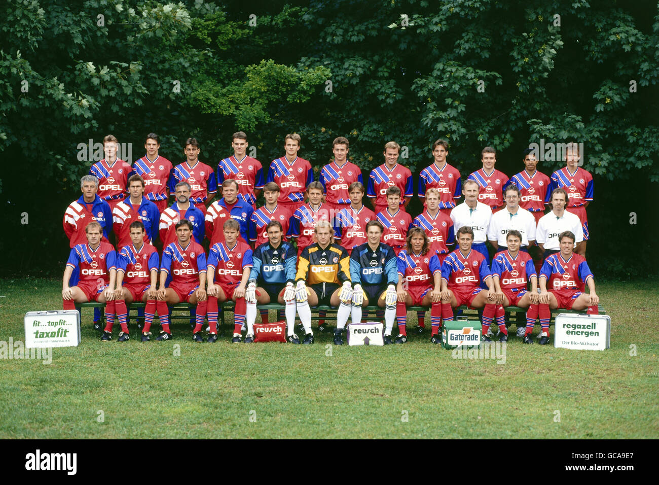 sports, soccer / football, German professional soccer league, FC Bayern Muenchen, group picture, 1993/1994, Additional - Stock Image