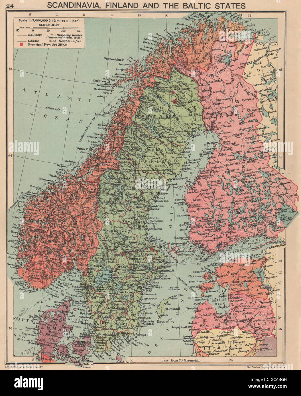 WORLD WAR TWO. Russo-Finland borders March 1940 post Winter War. Hango, 1940 map - Stock Image