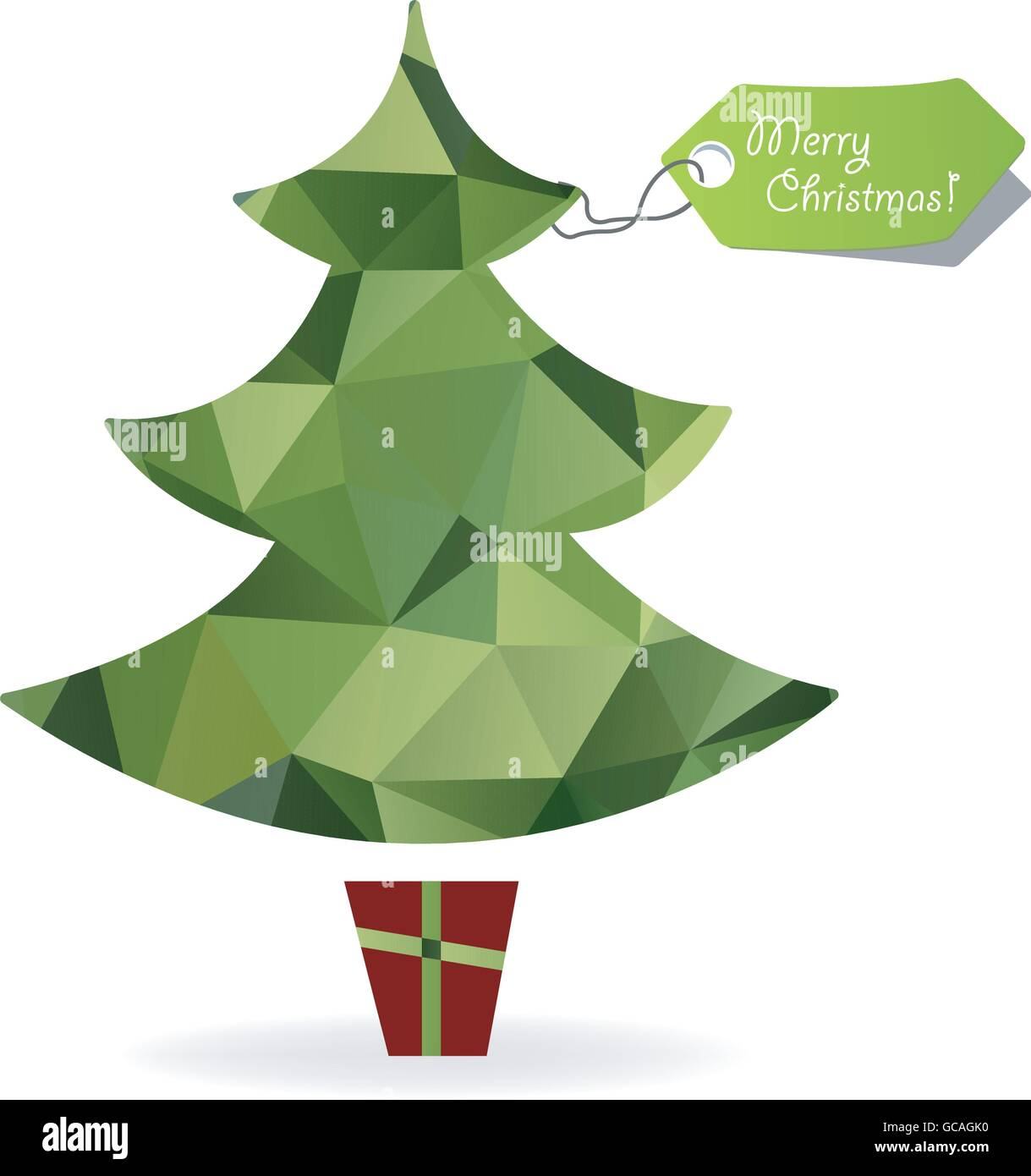 Abstract Christmas tree symbol made of triangles,geometric ...