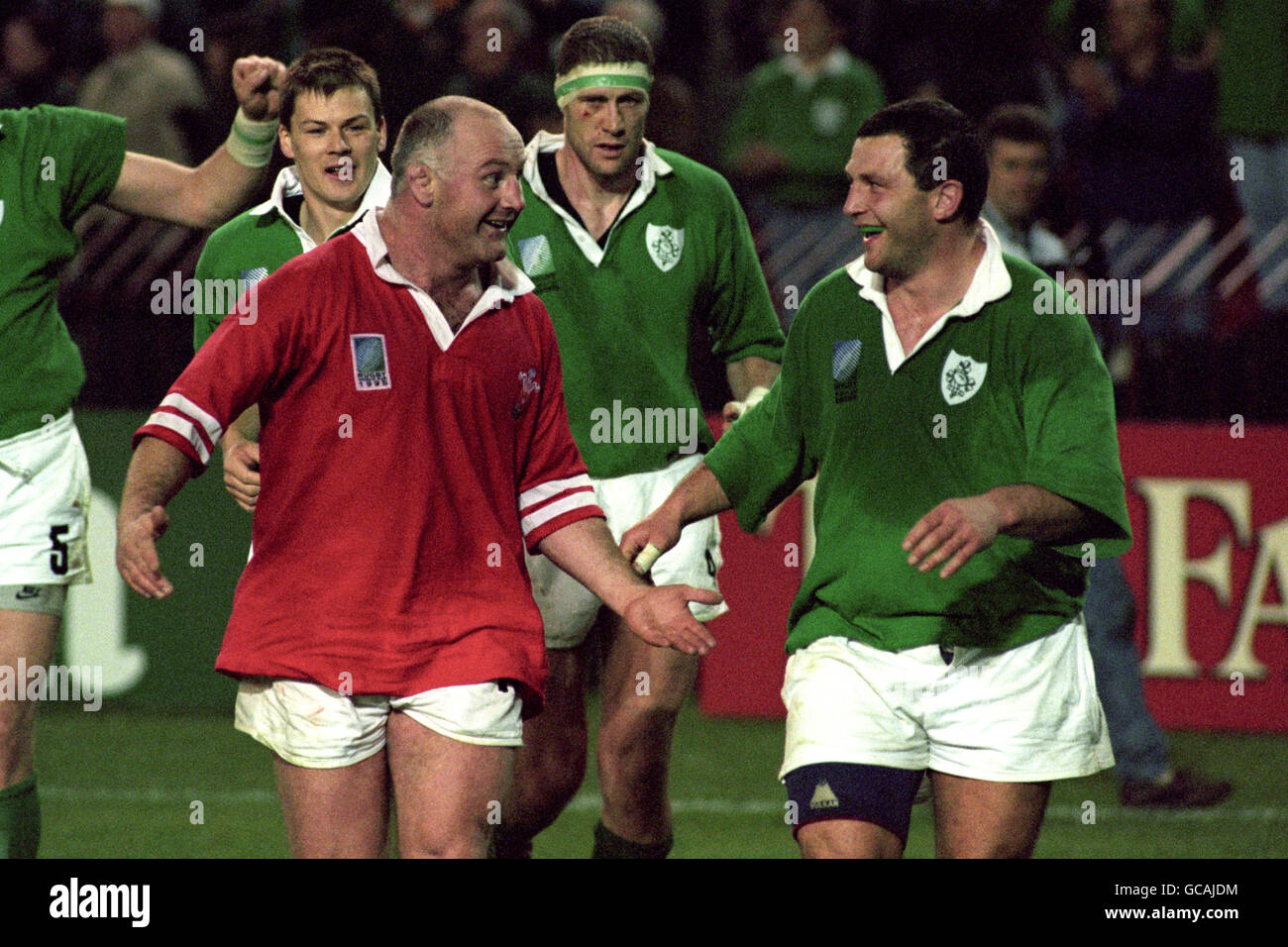 Rugby Union - World Cup South Africa 1995 - Pool C - Ireland v Wales - Ellis Park, Johannesburg - Stock Image