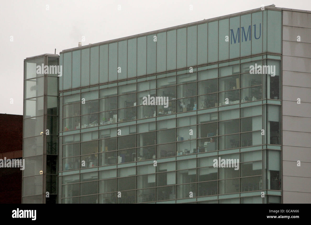 General views of Manchester. One of the buildings belonging to Manchester Metropolitan University.  Friday February - Stock Image