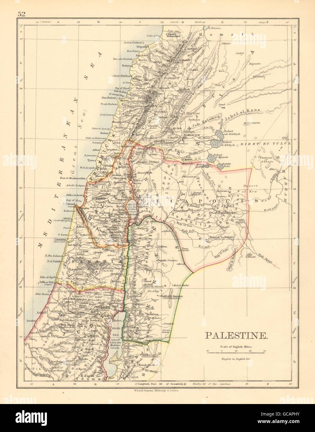PALESTINE. Galilee Samaria Judea Perea Phoenicia Decapolis. JOHNSTON on aelia capitolina map, israeli settlement, middle east map, mount carmel map, sinai peninsula map, iudaea province map, philistia map, jezreel valley map, west bank map, the decapolis map, laodicean church map, mount gerizim, jerusalem map, jordan river map, tyre map, judea and samaria, sea of galilee, old testament holy land map, damascus map, kingdom of judah, tell beit mirsim map, the whole state map, dead sea map, antonia fortress map,