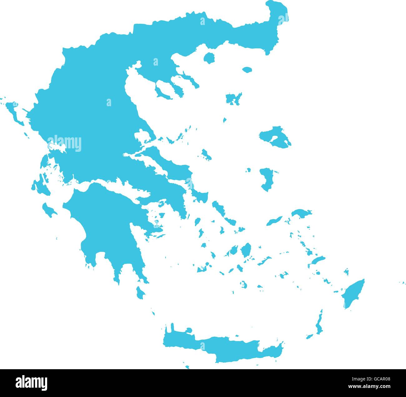 High detailed vector map of Greece. Vector illustration Eps 10 Stock ...