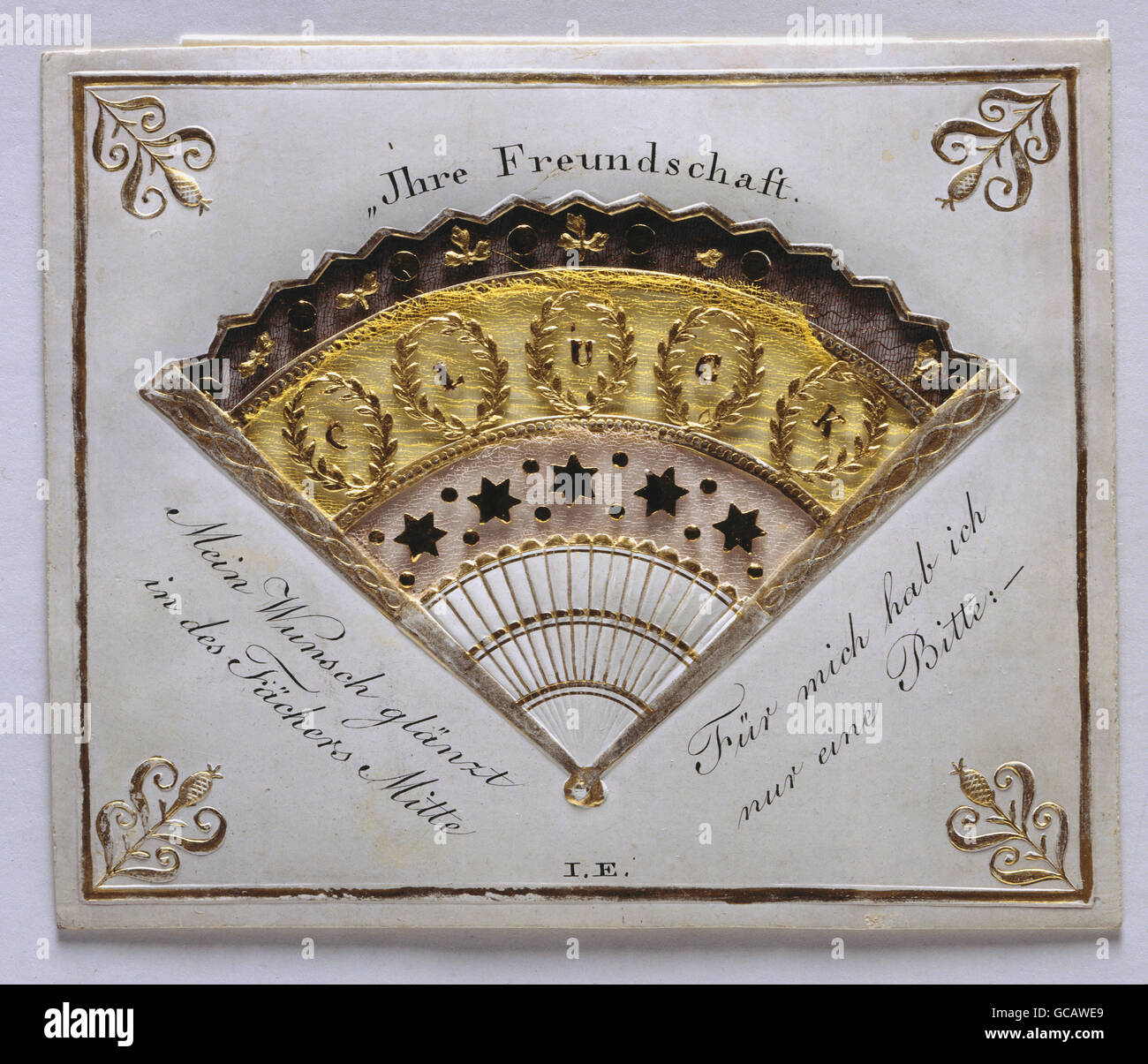 Fine Arts Paper Greeting Cards Punched And Embrossed Card Colour