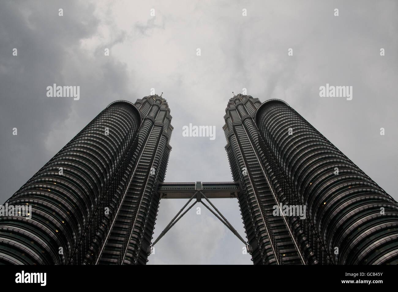 Petronas Twin Towers in Kuala Lumpur - Stock Image