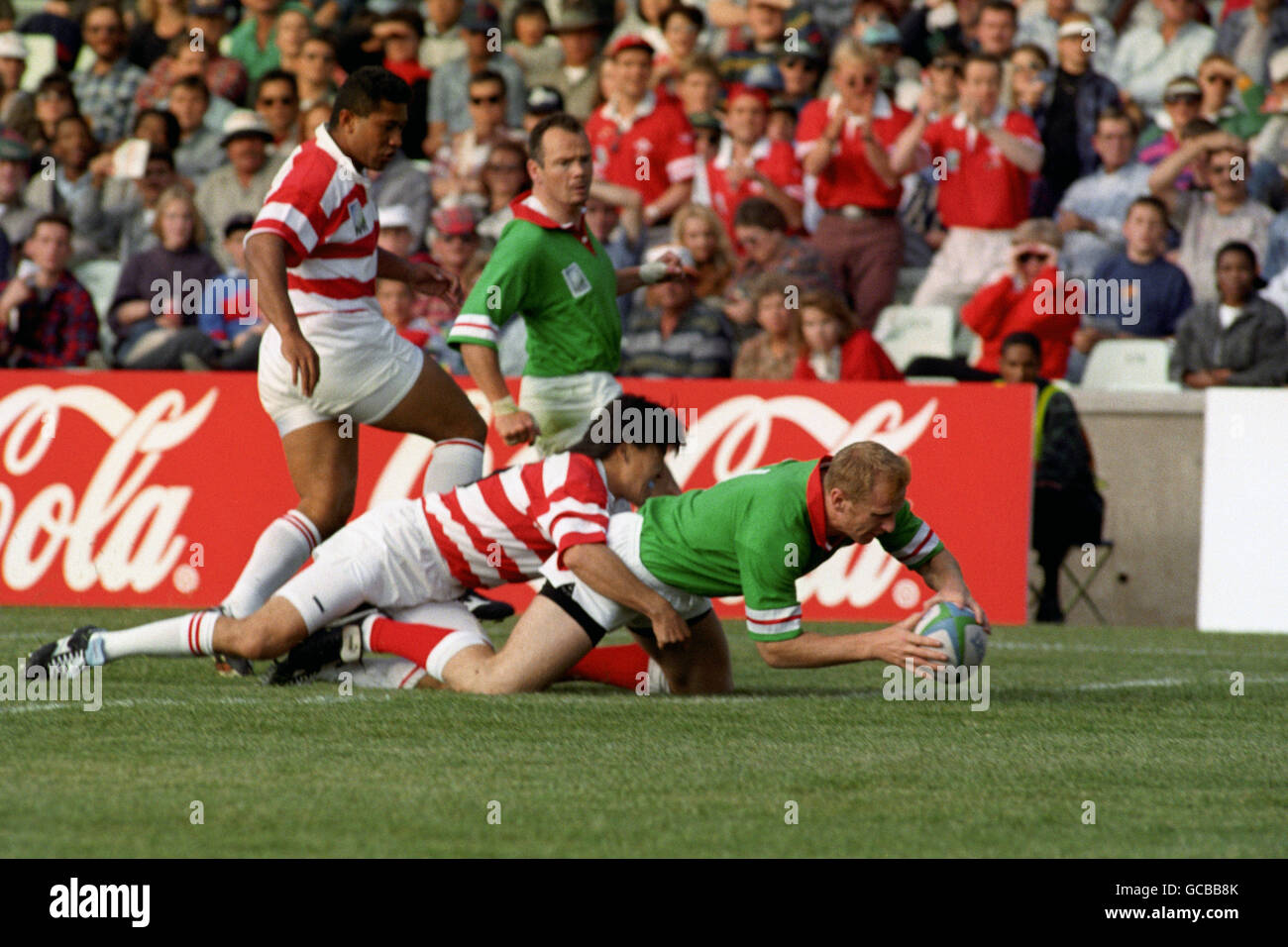 Rugby Union - World Cup 1995 - Pool C - Wales v Japan - Free State Stadium, Bloemfontein - Stock Image