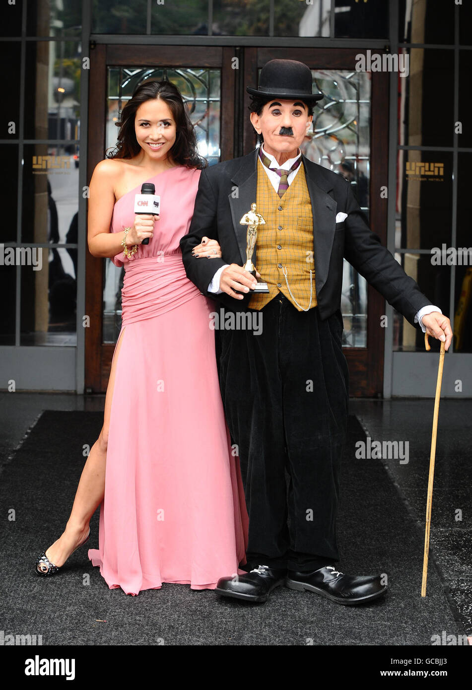 Myleene Klass for CNN at The Oscars 2010 - Los Angeles - Stock Image