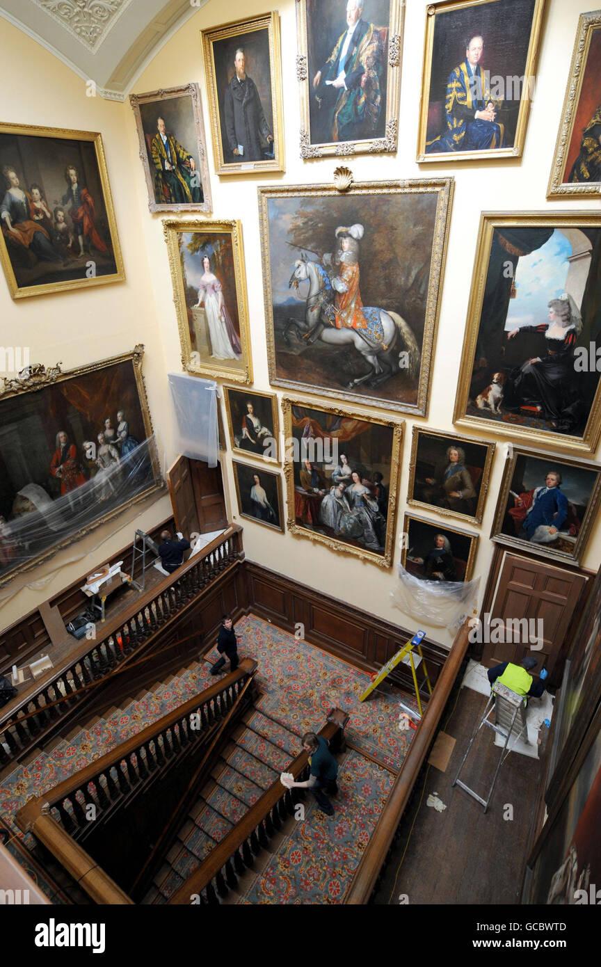 Chatsworth House refurbishments - Stock Image
