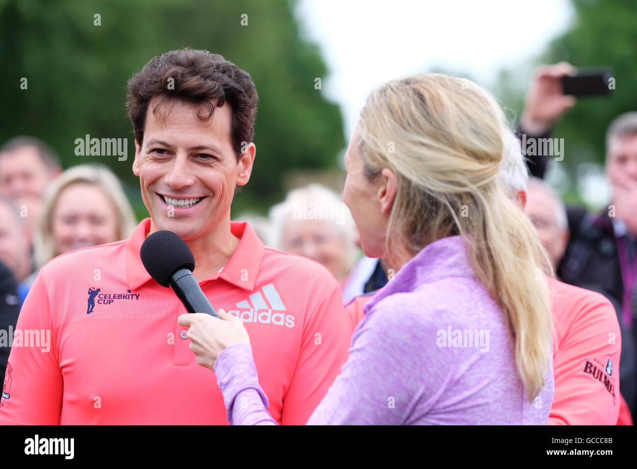 Celtic Manor, Newport, Wales - Saturday 9th July 2016 - The Celebrity Cup golf competition actor Ioan Gruffudd talks - Stock Image
