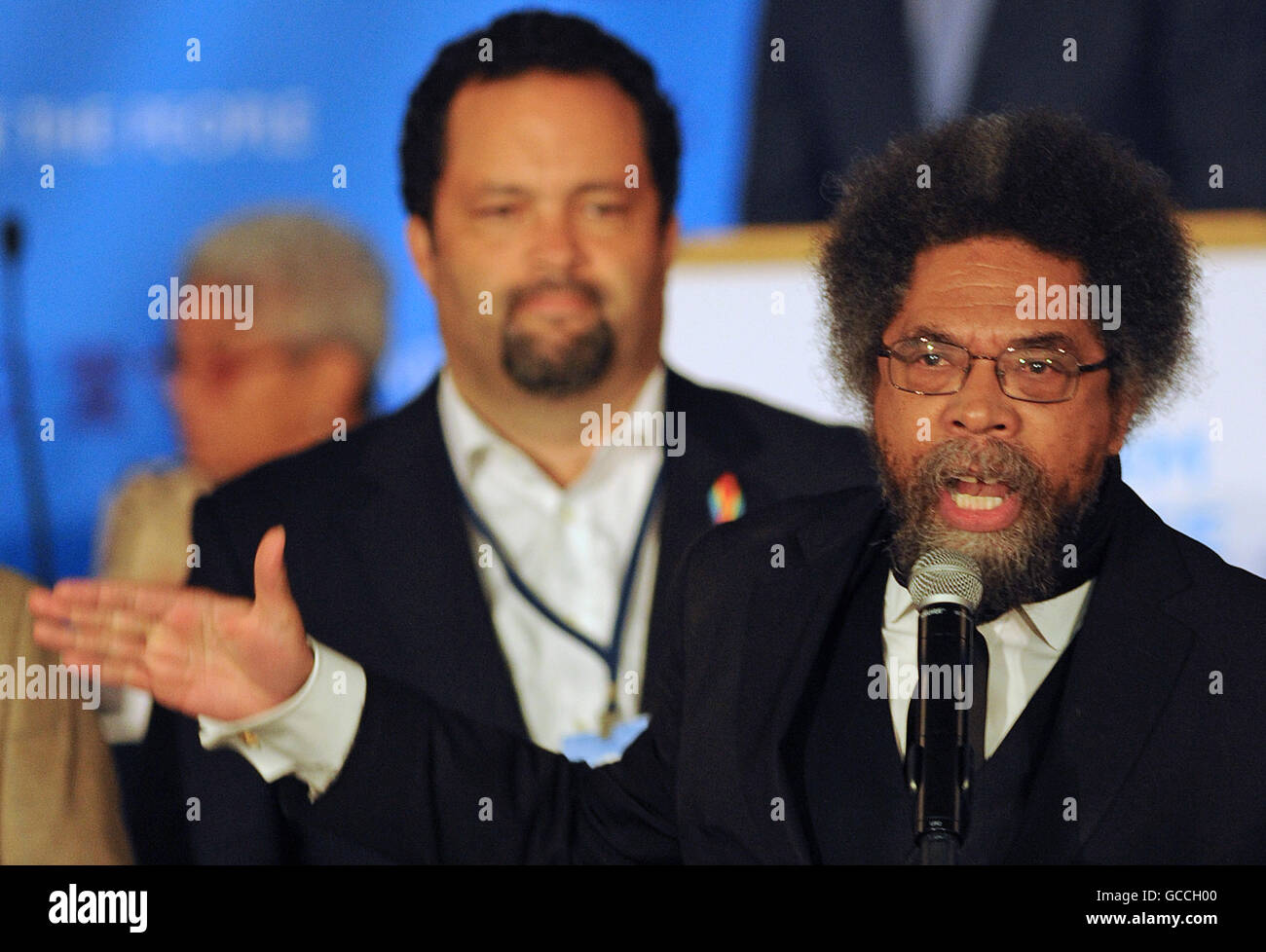 Orlando, Florida, USA. 9th July, 2016. Social activist Cornel West speaks against the Trans-Pacific Partnership - Stock Image