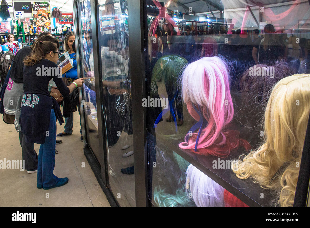 São Paulo, Brazil, July 09, 2016. Anime Friends event on Campo de Marte air base in Sao Paulo (SP), on Saturday - Stock Image