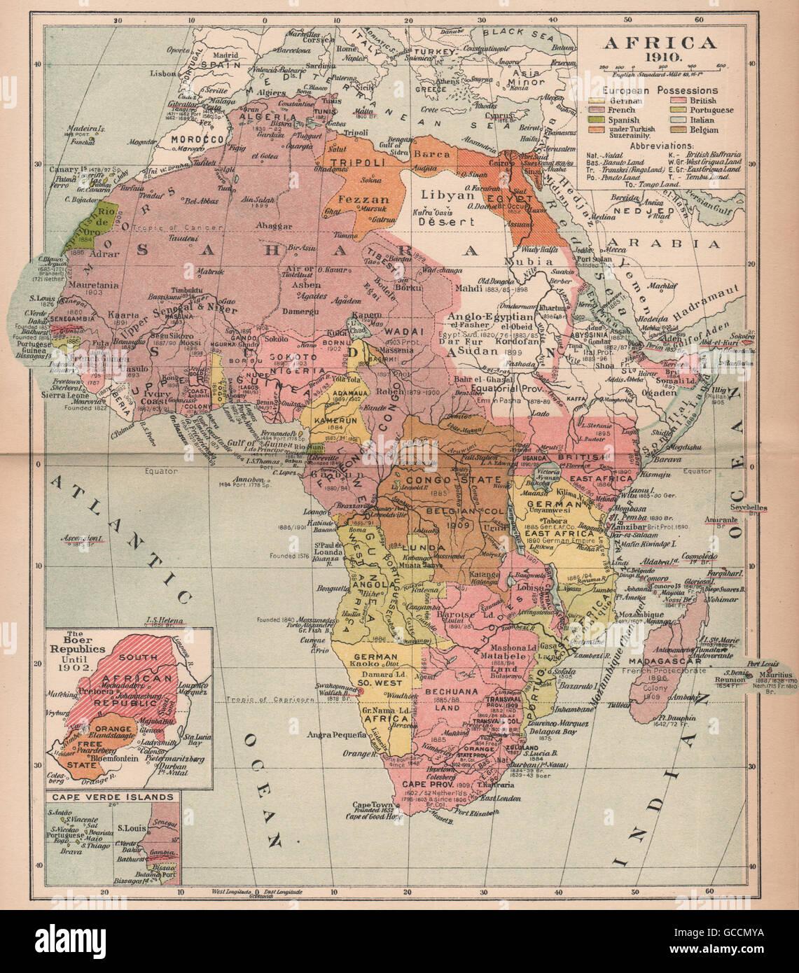 Partition Of Africa Map.Africa 1910 Partition Of Africa Colonisation British French