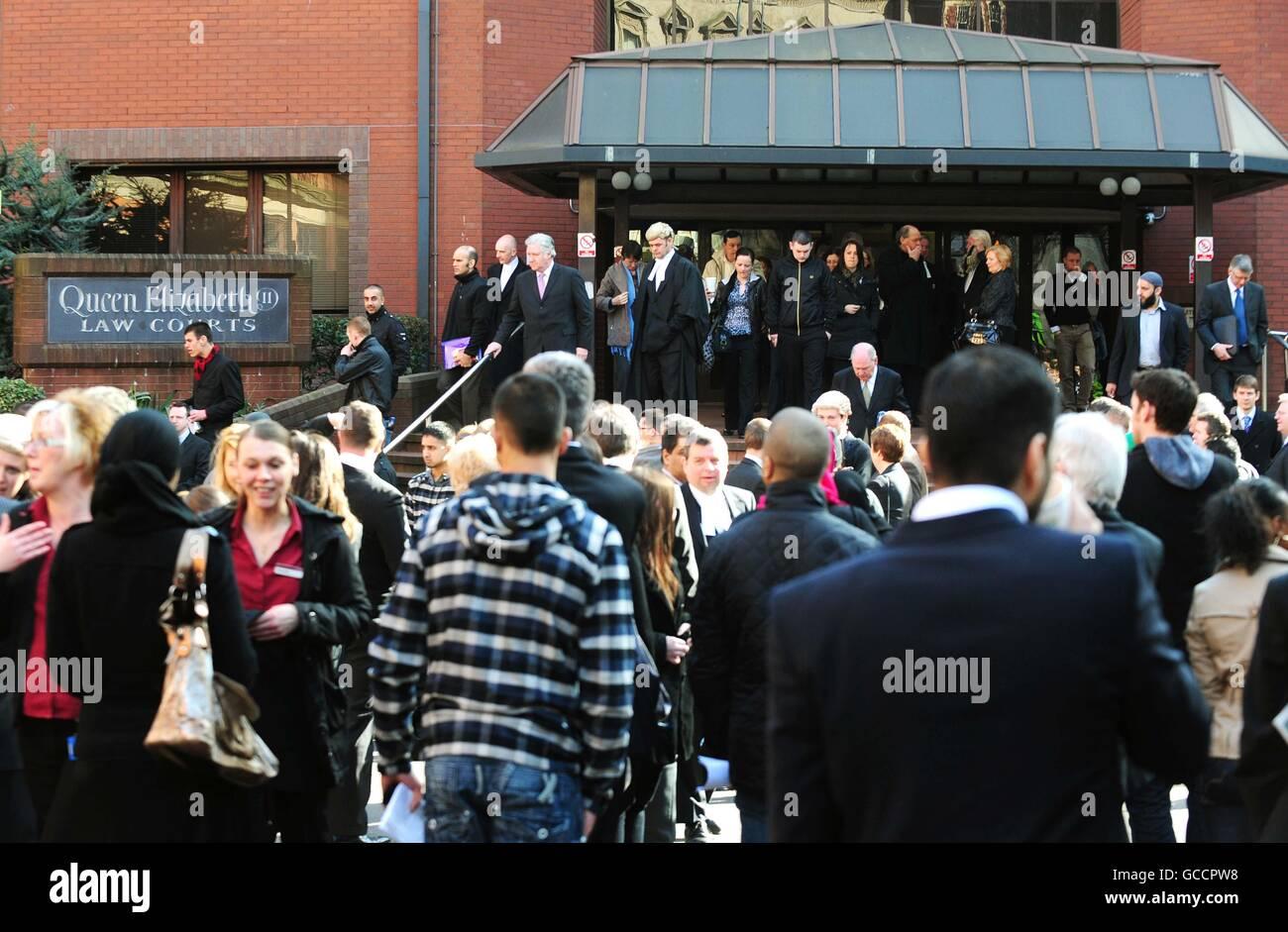 Birmingham CC evacuated - Stock Image