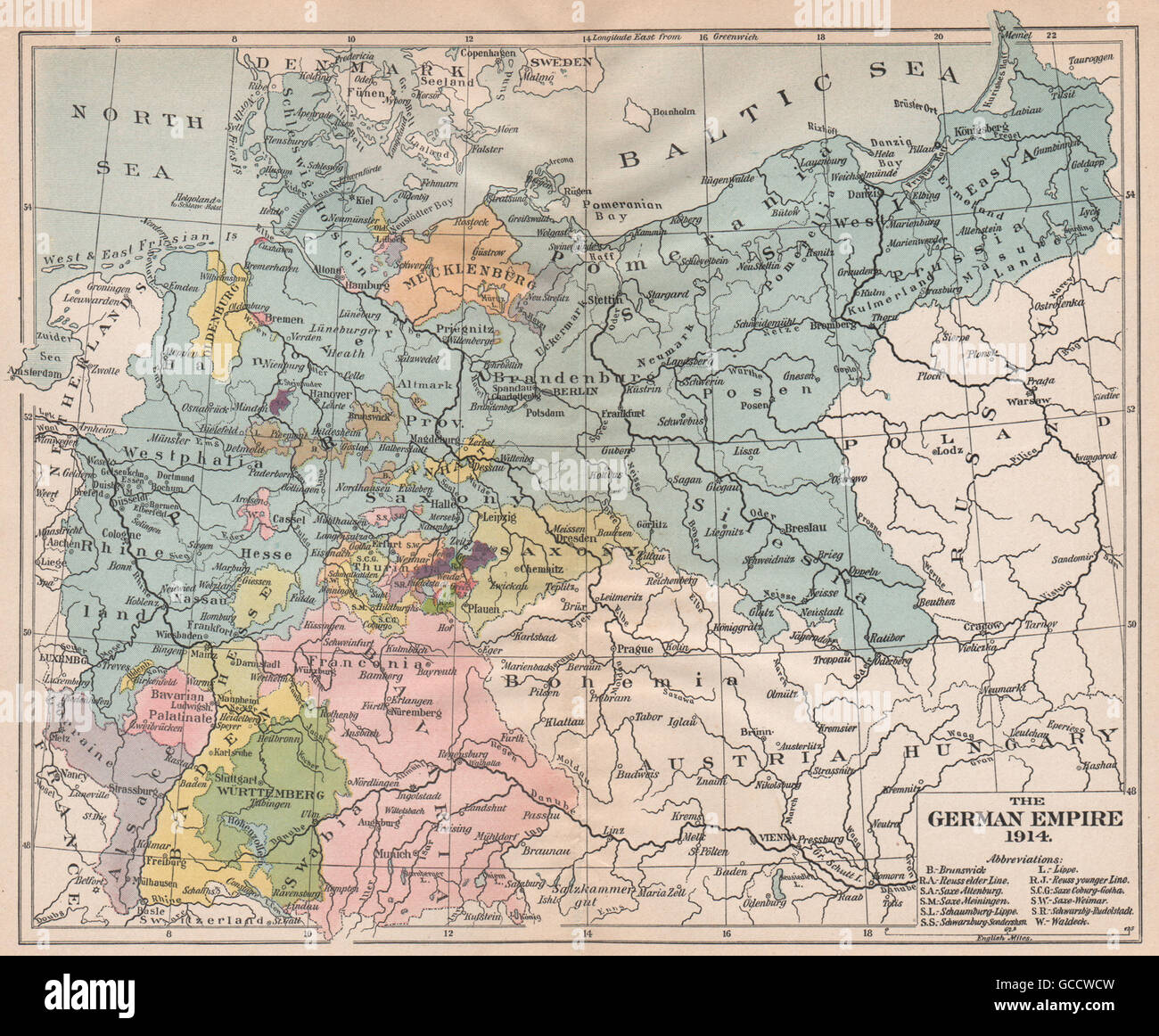 Germany German Empire Map Stock Photos & Germany German Empire Map ...