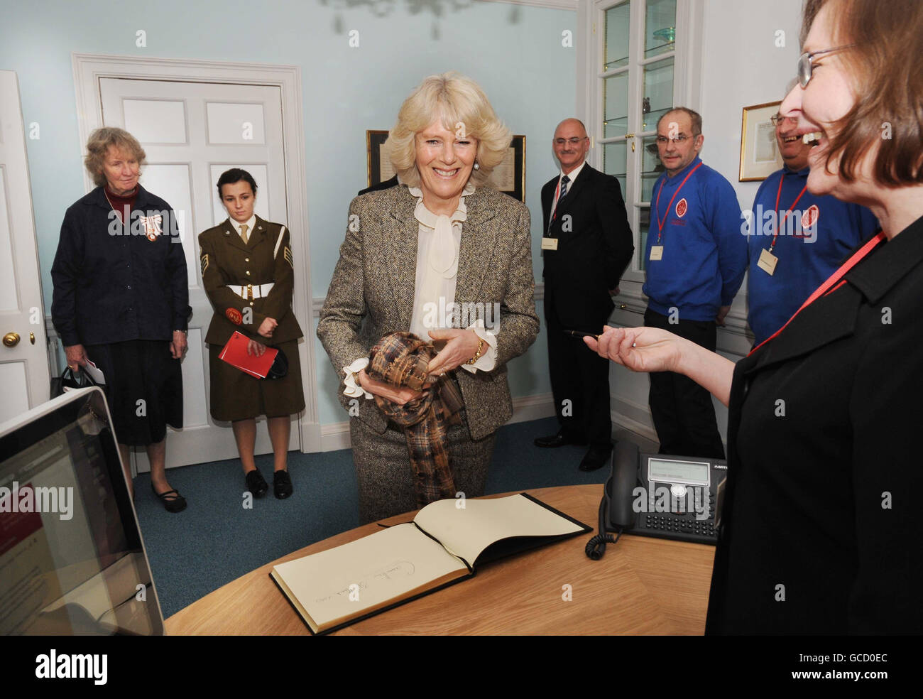 Duchess of Cornwall visits Bath - Stock Image