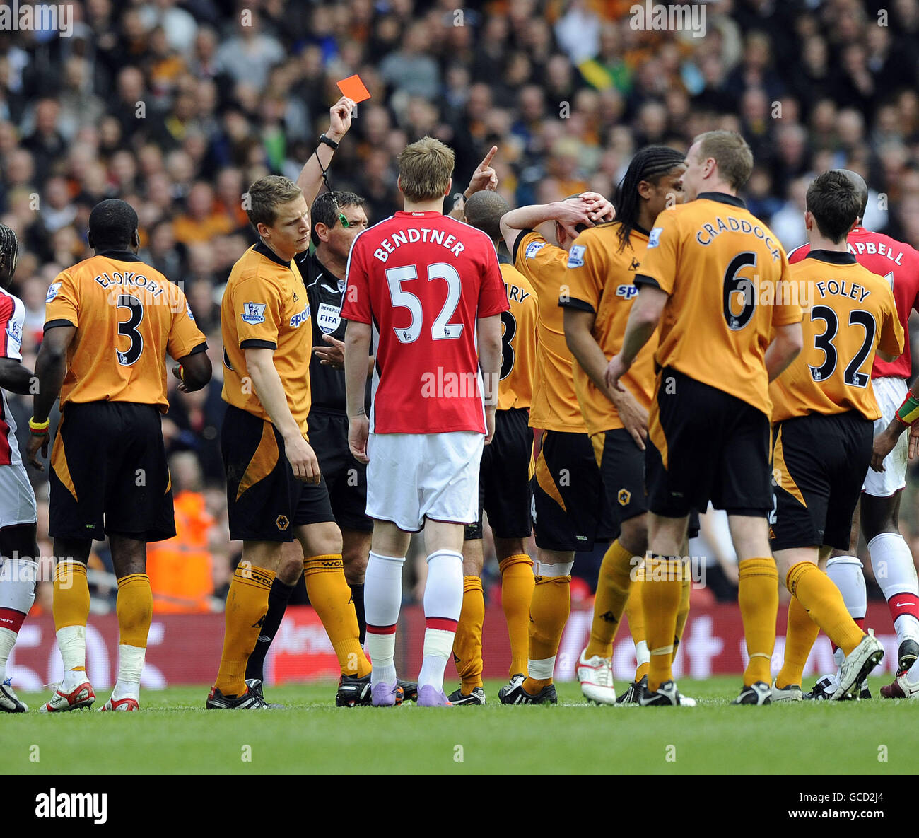 Soccer - Barclays Premier League - Arsenal v Wolverhampton Wanderers - Emirates Stadium - Stock Image