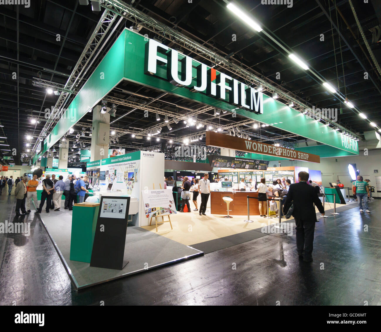 September 20-25th 2016 is the next photokina exhibition in Cologne Germany. Fujifilm X cameras stand. - Stock Image