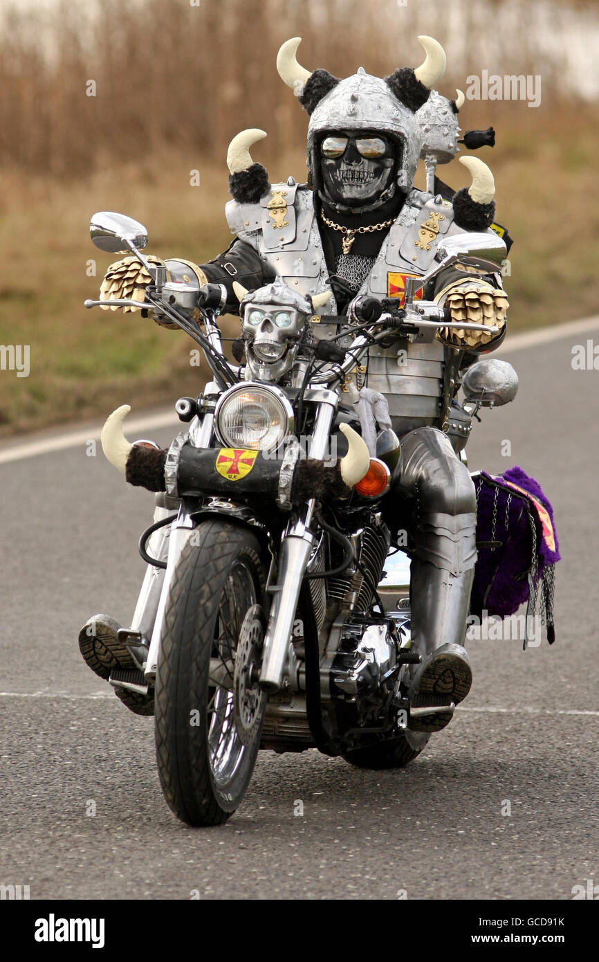 viking biker alamy