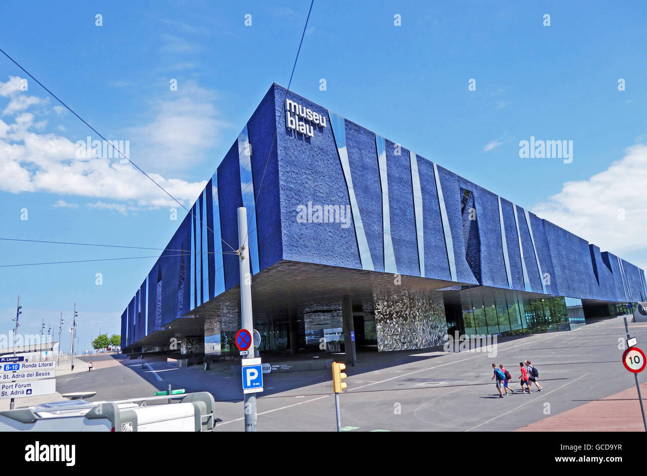 BARCELONA, SPAIN - JULY 31, 2015: The Blue Museum of Natural Sciences (Museu Blau) - an architectural landmark in - Stock Image