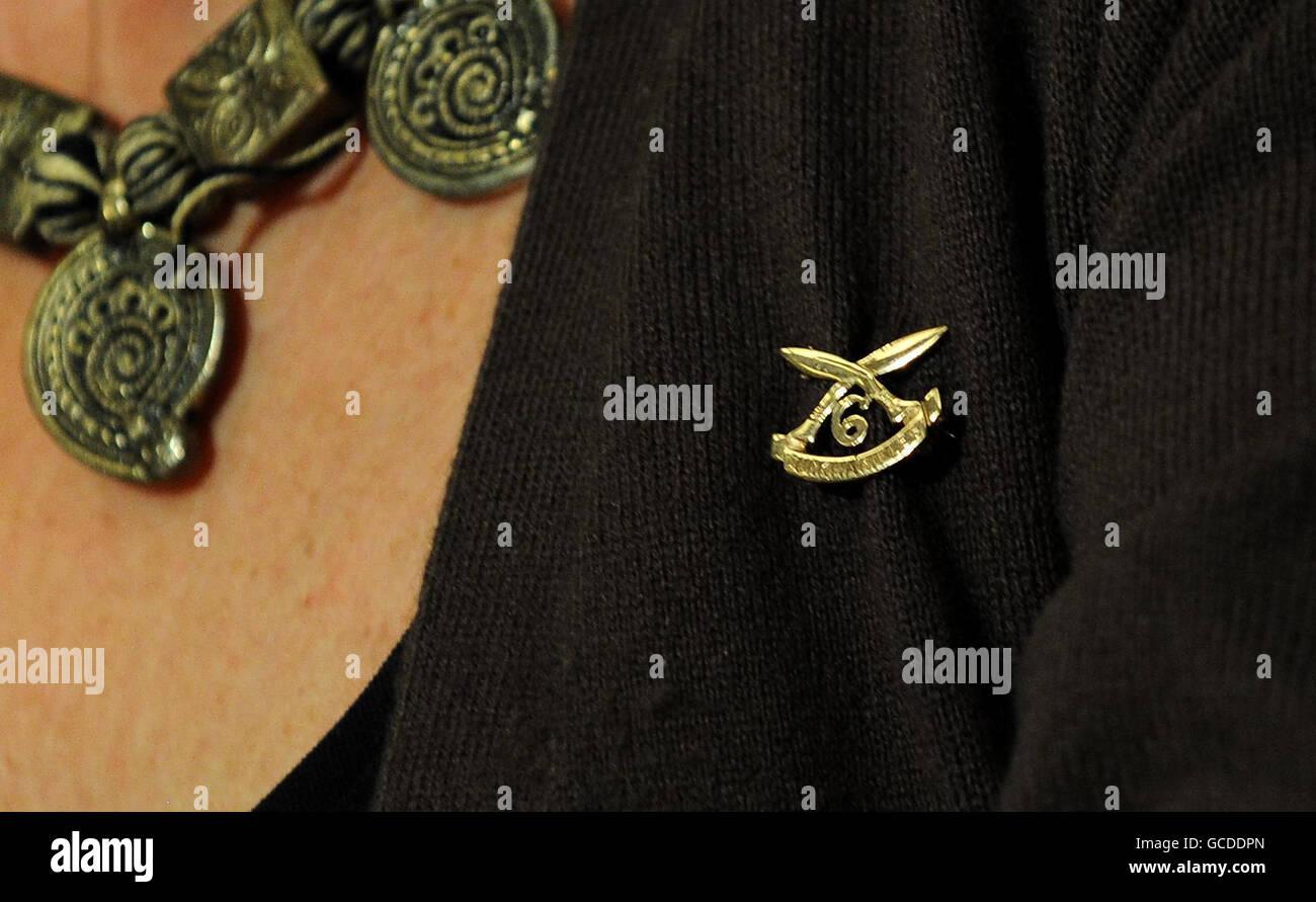 Lumley attacks minister over Gurkhas - Stock Image