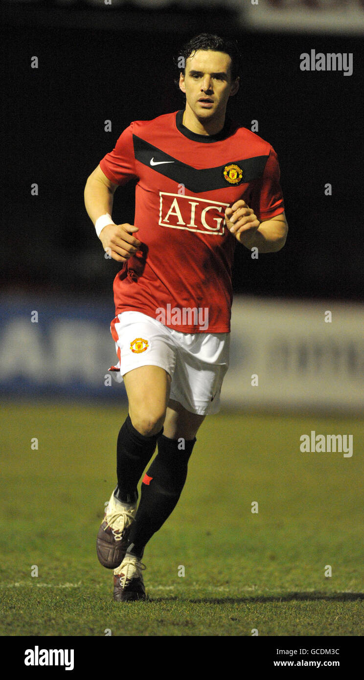 Soccer - Barclays Reserve League North - Manchester United v Burnley - Moss Lane - Stock Image