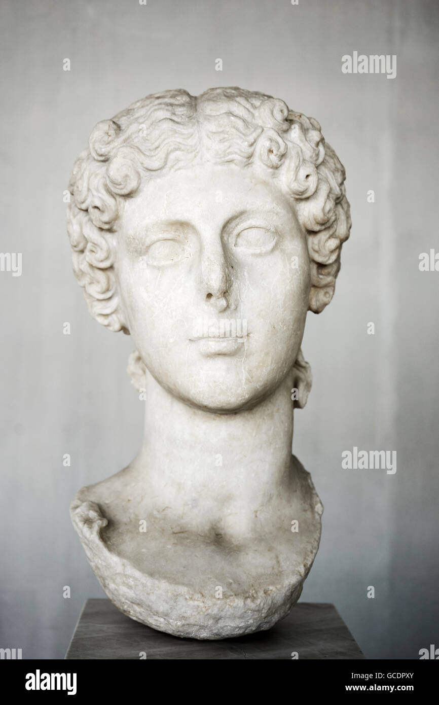 Portrait of Agrippina the younger, wife of the emperor Claudius - Stock Image